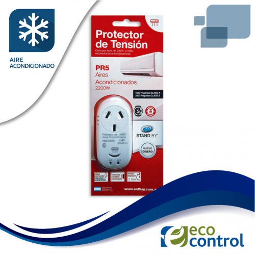 PROTECTOR ANTHAY DE TENSION PARA AIRE ACONDICIONADO CON ENCHUFE